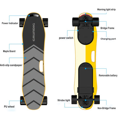 GRUNDIG Pro A001 Self Balance Electric Skateboard, Ship Directly From Germany And Two Years After-Sale Services For European Customers