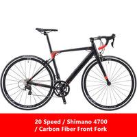 New Road Bike Aluminum Alloy Frame Carbon Fiber Front Fork SHIMAN0 18/20/22 Speed Bicycle Outdoor Sports Racing Cycling