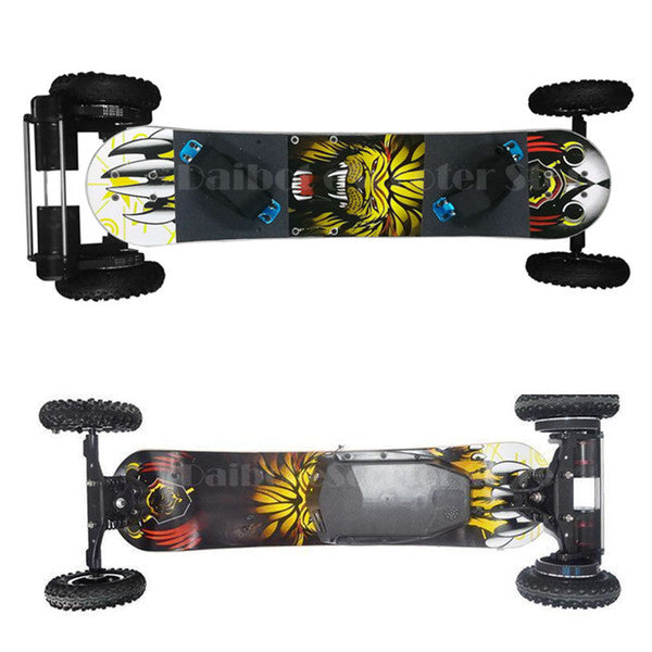 Dual Belt Motor 1650W*2 36V 35KM/H Off Road Electric Skateboard Scooter For Adults