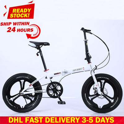 DHL Fast Delivery Folding Bicycle Mountain Bike 20-inch 18 16-inch Steel Variable Speed Bicycles Dual Disc Brakes Road Bikes Racing Bicycle