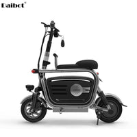 Electric Folding Bicycle Two Wheels Electric Bicycles Electric Scooter For Girls/Ladies With Seat/Pet Basket 48V 80KM 40KM/H