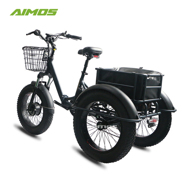 aimos  3 wheel electric bicycle three wheels adult cargo electric bike with basket