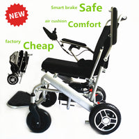 Hot sale silver lightweight electric wheelchair with lithium battery 24V 13A for old people