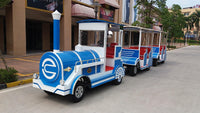 kid trackless train electric