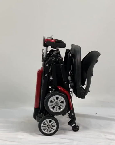 4 wheel folding fully enclosed remote control mobility scooter outdoor lithium battery electric mobility scooter for elderly