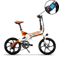 RICH BIT RT-730 48V 8Ah lithium battery Popular Full Suspension Electric Folding Bicycle New Smart LCD Screen 5 Level Pedal Assist