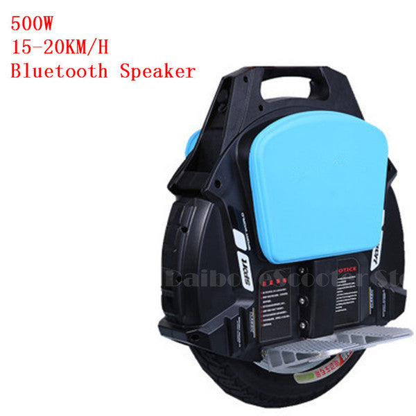 One Wheel Electric Unicycle Scooter Self Balancing Scooters With Bluetooth Speaker 500W 60V Electric Scooter For Adults