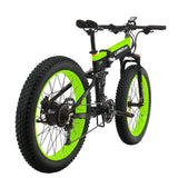 LANKELEISI XT750PLUS 48V 12.8AH 500W all-round motor electric bicycle 26 inch 4.0 fat tire MTB folding electric bicycle
