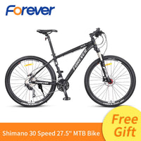 Forever Men Mountain Racing Bike Light Special Aluminum Alloy Frame Bicycle Hydraulic Disc Brake Cycle MTB 30 Speed Bike 27.5in easy-smart-way.myshopify.com