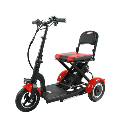 Folding 3wheel elderly electric bike 3 speed ultra light portable aluminum alloy ebike 36v 300w lithium battery electric bicycle
