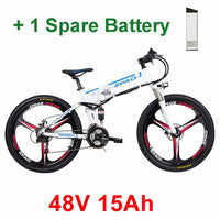 ZPAO 21 Speed, 26 inch, 48V 350W, Folding Electric Bicycle, Mountain Bike, Lithium Battery, Aluminum Alloy Frame, Disc Brake easy-smart-way.myshopify.com