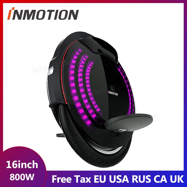 INMOTION V8 Electric Unicycle Monowheel Onewheel Selfbalancing Scooter EUC Off-road APP With Decorative Lamps Electric Scooter easy-smart-way.myshopify.com