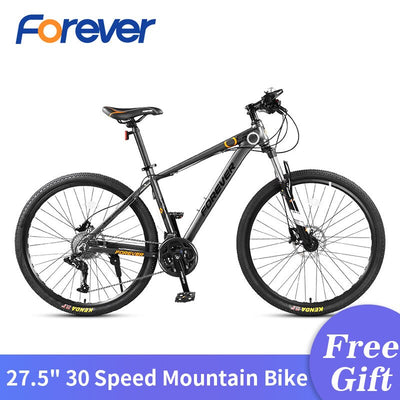 FOREVER 30Speed Mountain Bicycle Al 27.5 in Fat Tyre Bike Variable Speed Road Bike Racing Bicycle 3-finger Hydraulic Brake MTB