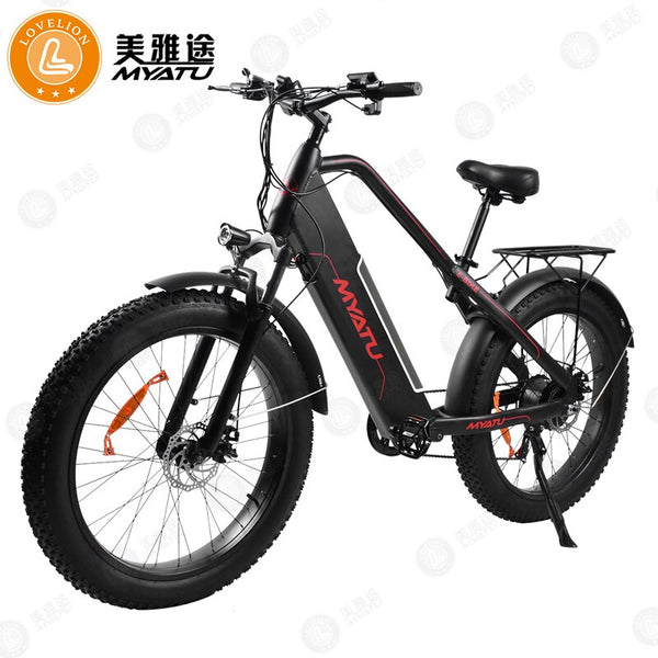 "MYATU SHIMANO 7 speed adult ebike Mountain e Bike powerful Electric Bicycle 48V 500W 12AH 26"" 4.0 Electric Vehicle Motor e-bike"