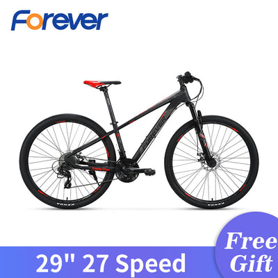 "FOREVER 29"" Large Wheelset Mountain Bike Men Aluminium Alloy Bicycle Women Teenages OFF-road Bicycle Damping 27 Speed MTB Bike"