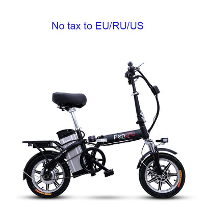 Portable folding electric bike 14inch electric bicycle Removable battery ebike Two disc brakes electric bike mini adult e bike