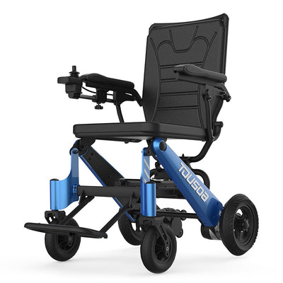 New Product CE Lightweight Portable Travel Aluminum Folding Lithium Battery Power Electric Wheelchair