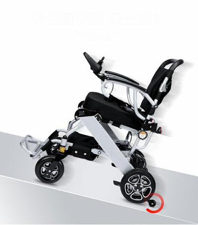 Free shipping best-selling net weight 19.8KG lithium battery folding electric wheelchair can be carried on the plane