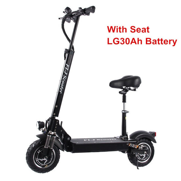 2400W Dual Motors Electric Scooter with Scooter seat strong Powerful Adults Foldable electric Scooters