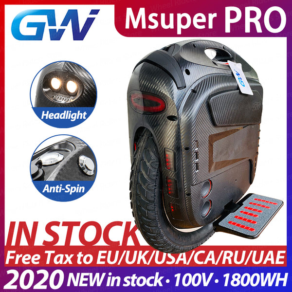 Gotway Msuper Pro 100V 1800wh 19inch Electric unicycle self-balancing scooter 2500W motor 21700 battery Lift up switch monowheel easy-smart-way.myshopify.com