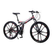 21 speed folding mountain bike 24 and 26 inch bicycle double disc brakes cycling bicycle folding mountain bike easy-smart-way.myshopify.com