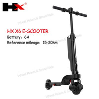 Folding HX X6 Electric Skateboard scooter Bicycle Foldable Kick Scooter 6A Escooter with Shock Absorber with Bluetooth APP easy-smart-way.myshopify.com