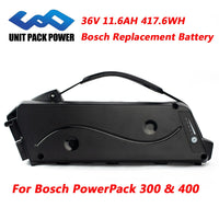 36vBosch PowerPack 300 400 Active Replacement Battery Electric Bike 36V 11.6AH 417.6WH Samsung 18650 Lithium eBike Batteries