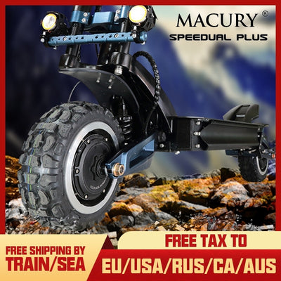 Macury Speedual Plus 11 Inch Dual Motor Electric Scooter ZERO 11X 72V Off-Road E-scooter 110km/h Double Drive ZERO11X Z11X X11
