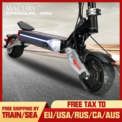 Macury SPEEDUAL Mini 8 Inch Dual Motor Electric Scooter ZERO 8X 52V Off-road Double Drive Solid Tyre ZERO8X X8-DUAL Off Road