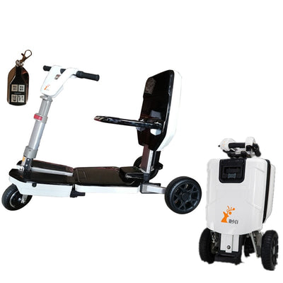 Small Electric Mobility Scooter Luggage Folding Adult Disabled Tricycle Lithium Battery Portable Scooter For The Elderly
