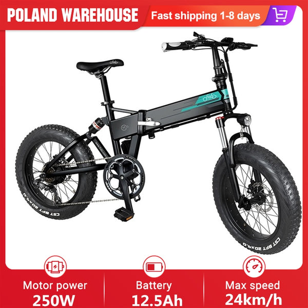 FIIDO M1 36V 12.5Ah 250W 20 Inches Folding Moped Electric Bike 24km/h Top Speed 80KM Mileage Electric Bicycle E-bike