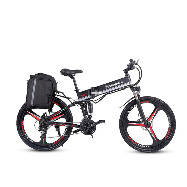 2021 New Shengmilo M80 Adult Off-road Electric Bike 26 inch Ebike350W  12.8AH Lithium Battery Foldable mountain Electric Bicycle for men