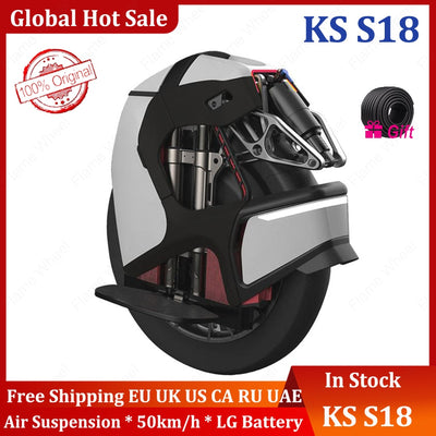 Original KS S18 Shock absorbing unicycle Frosted black white International Version without speed limit