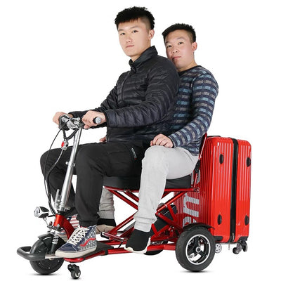 48V 350W 3 wheel lightweight folding handicap electric adult for disabled or handicapped mobility scooter