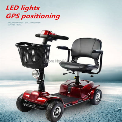 Hot Sale Folding Power Motor Disabled Handicap Adult Electric Mobility Scooter Wheelchair  4-Wheel Elderly