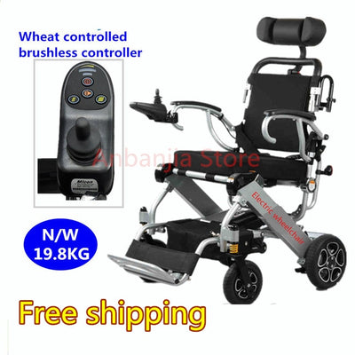 Aluminium Alloy Medical Equipment Power Folding Portable Lightweight Electric Wheelchair CE approval