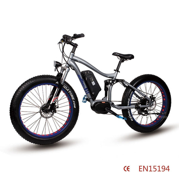 26inch electric mountain bicycle  Fat tire 8FUN center motor electric bike 36V Double shock absorption Soft tail mountain easy-smart-way.myshopify.com