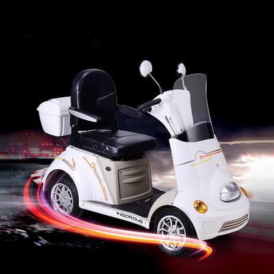 Electric Scooters Four Wheels 48v 500w Three Kinds with Trunk Baffle MP3 Player Disc-Brake Elderly
