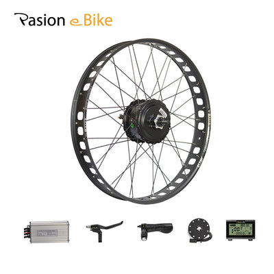 "PASION E BIKE 48V 500W 750W Electric Bicycle Conversion Kit 26"" Fat Bike Rear Wheel Motor with BAFANG Hub Motor Conversion Kits"