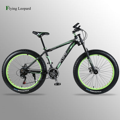 "wolf's fang Mountain bike Aluminum Bicycles 26 inches 21/24 speed 26x4.0"" Double disc brakes Fat bike road bike bicycle"