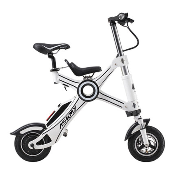 10-inch folding electric bicycle aluminum alloy chainless electric bike light and fast folding ebike with child seat easy-smart-way.myshopify.com