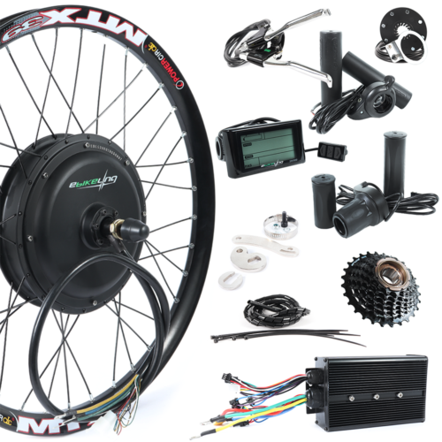 "48V 3000W 26"" 700c Direct Drive Rear Electric Bicycle Conversion Kit easy-smart-way.myshopify.com"