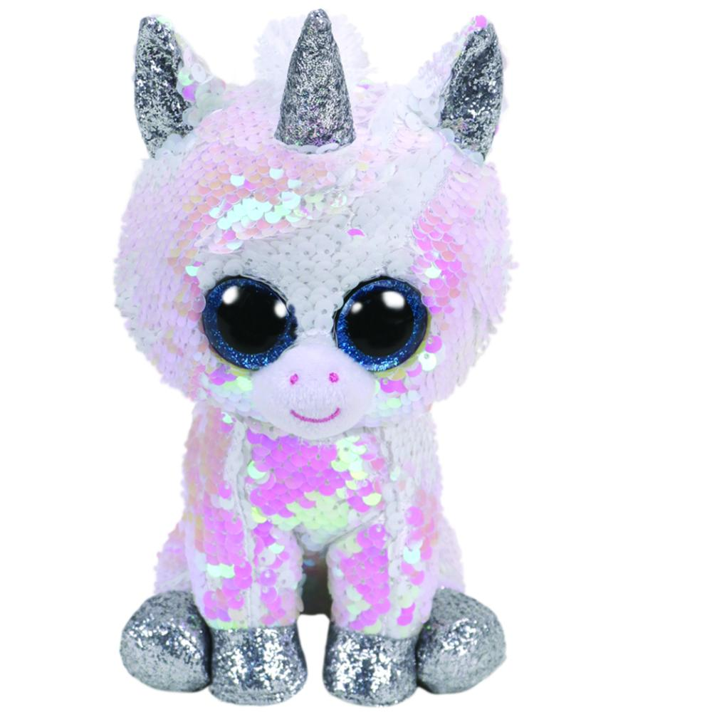Ty Flippables Diamond Unicornio Blanco Mediano