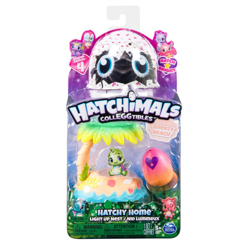 Hatchimals Coleccionables Set Nido Playa Con Luz Serie 4