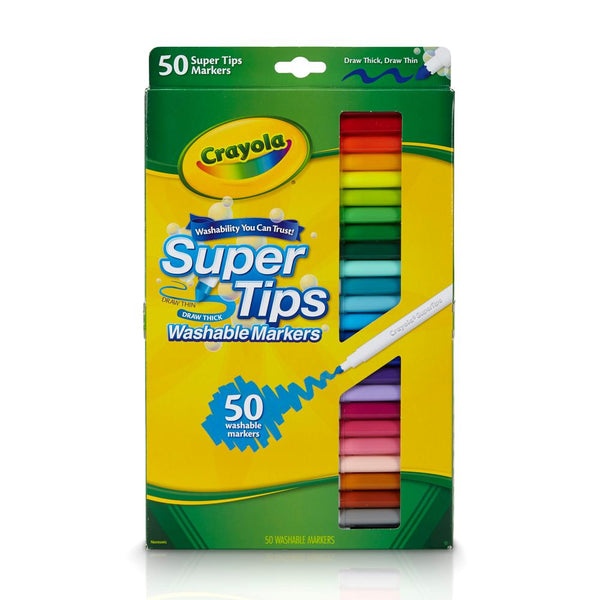 50 Super Tips Lavables Crayola