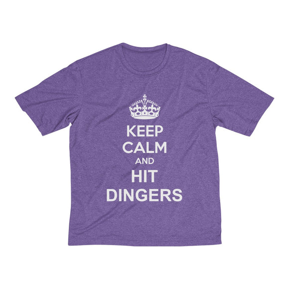 Keep Calm and Hit Dingers Men's Heather Dri-Fit Tee