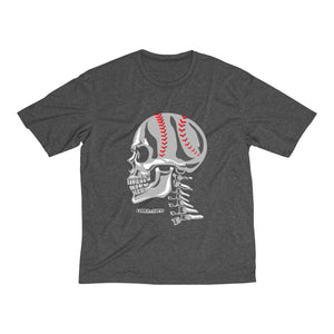 Baseball Skull Men's Heather Dri-Fit Tee