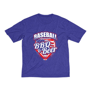 Baseball BBQ & Beer Men's Heather Dri-Fit Tee