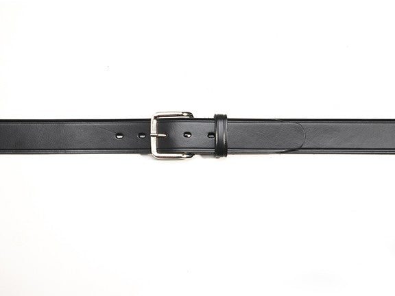 Leather Belt With Creased Lines