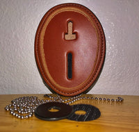 Recessed Belt Clip Badge Holder With Pocket And Neck Chain